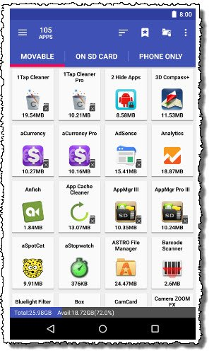 Как можно быстро перенести приложения Андроид на карту памяти