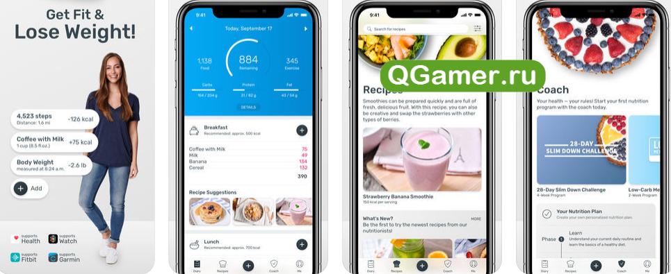 ТОП-6 приложений на Айфон с большой базой продуктов для подсчета калорий