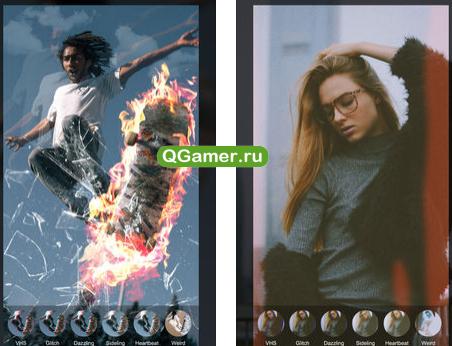Приложение для видео эффектов на Айфон и Андроид - 90s - Glitch & Vaporwave