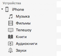 Файлы iOS