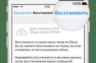 Восстановление с iCloud